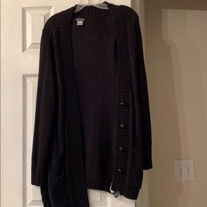 NWOT button Cardigan sweater (made to wear long)